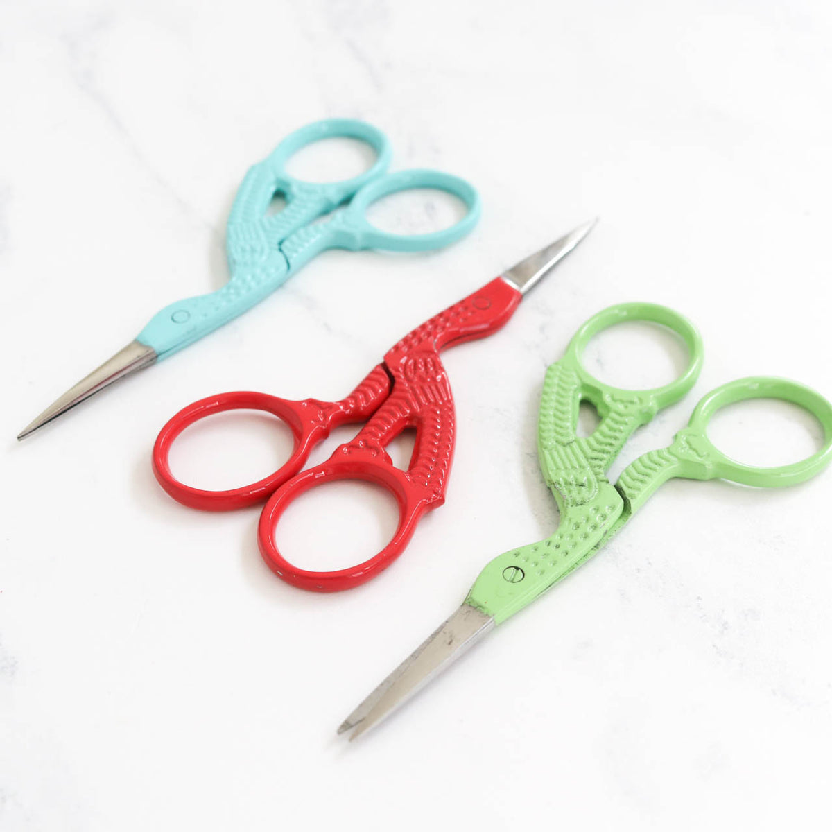 Colorful Stork Embroidery Scissors