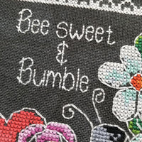Be Sweet and Bumble Cross Stitch Pattern