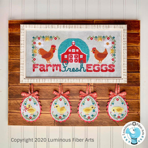 Farm Fresh Eggs Cross Stitch Pattern