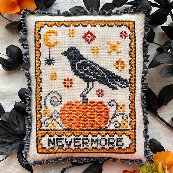 A Raven's Reply Cross Stitch Pattern