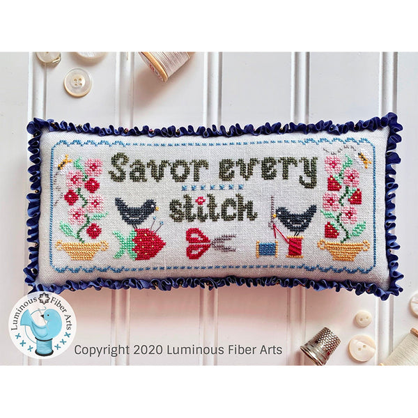 Savor Every Stitch Cross Stitch Pattern