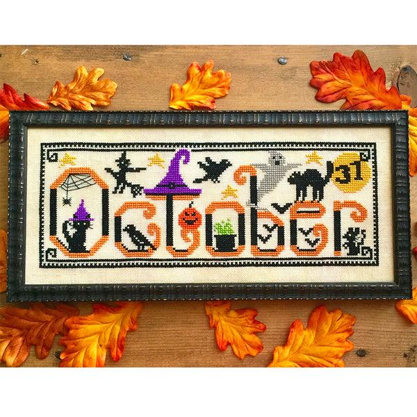 Spooky October Cross Stitch Pattern