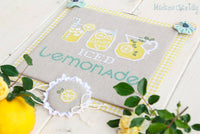Iced Lemonade Cross Stitch Pattern