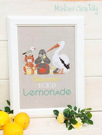 Summer Iced Lemonade Cross Stitch Pattern