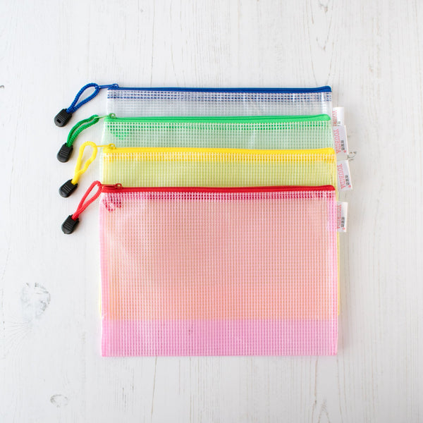 Mesh Zipper Project Bag - Medium