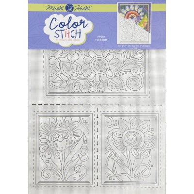Color Stitch Perforated Paper Cross Stitch Pattern - Full Bloom