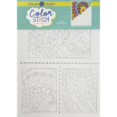 Color Stitch Perforated Paper Cross Stitch Pattern - Persian Paisley