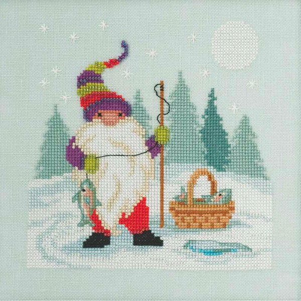Fishing Gnome Cross Stitch Kit