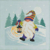 Hiking Gnome Cross Stitch Kit