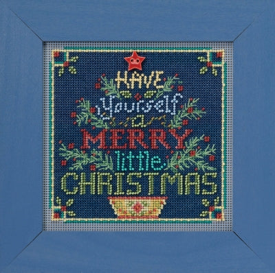 Buttons and Beads Cross Stitch Kit - Merry Little Christmas