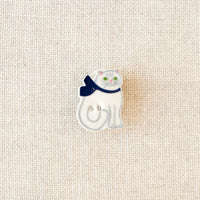 Ceramic Kitten Needle Minder