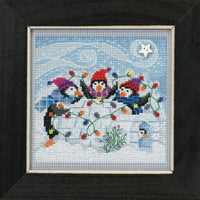 Buttons and Beads Cross Stitch Kit - Playful Penguins
