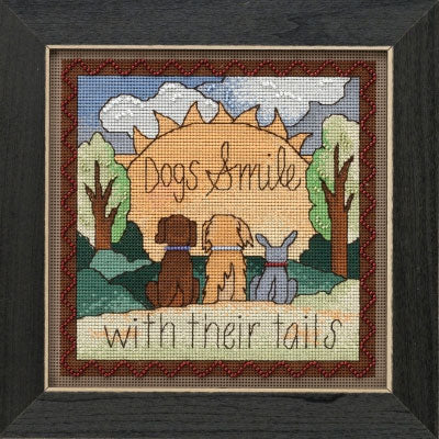 Dogs Smile Beaded Cross Stitch Kit (20% OFF)