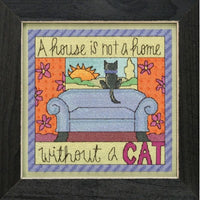 Without a Cat Beaded Cross Stitch Kit (20% OFF)