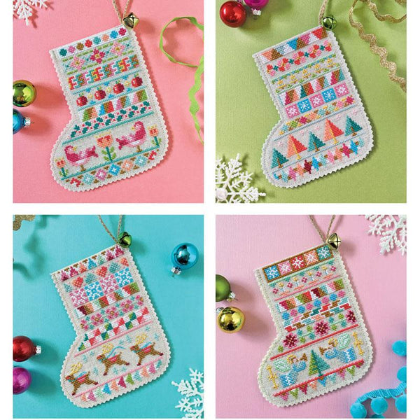 Mini Stockings Cross Stitch Pattern