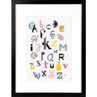 Modern Alphabet Cross Stitch Kit
