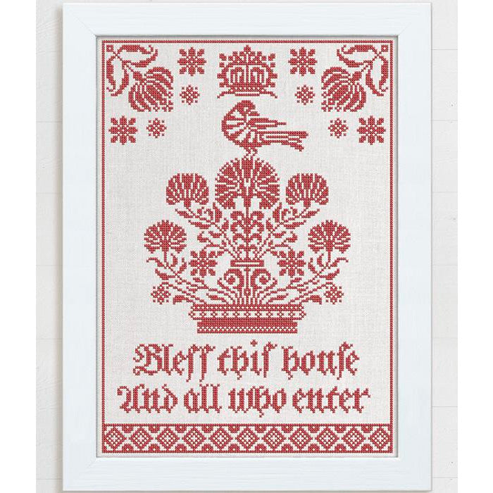 Bless This House Cross Stitch Pattern
