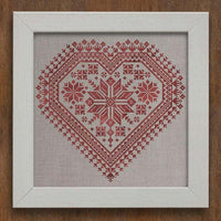 Nordic Heart Cross Stitch Pattern
