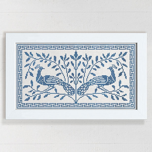 The Peacock Tree Cross Stitch Pattern
