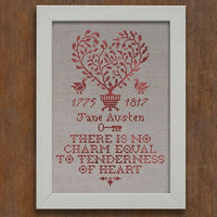 Tenderness of the Heart Jane Austen Sampler Cross Stitch Pattern