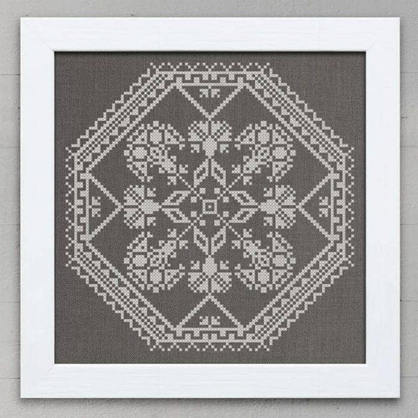 A Quaker Medallion Cross Stitch Pattern