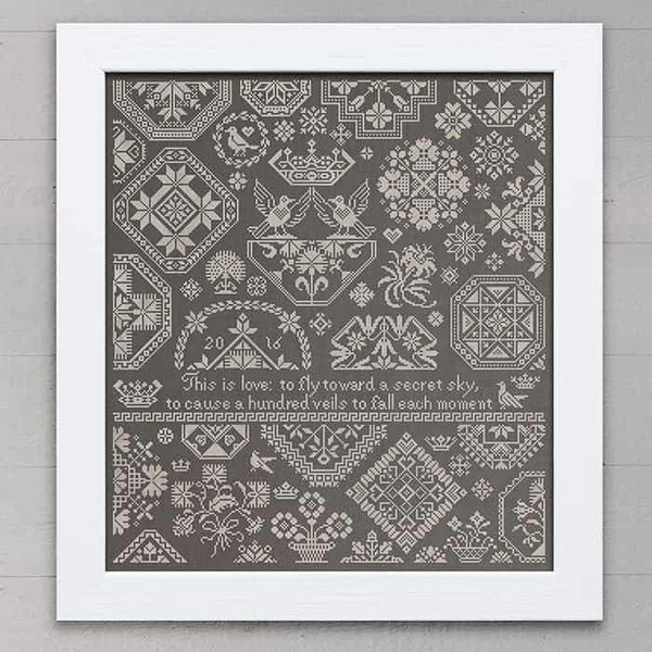 A Secret Sky Quaker Sampler Cross Stitch Pattern