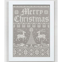 Christmas Town Holiday Sampler Cross Stitch Pattern