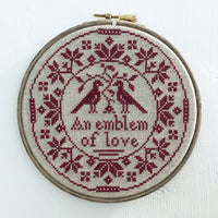 Emblem of Love Cross Stitch Pattern