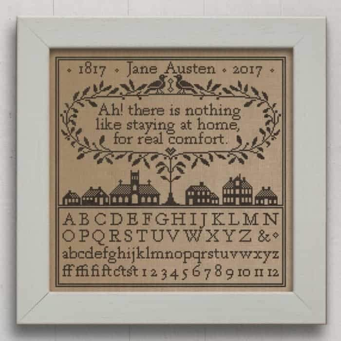 Real Comfort Jane Austen Sampler Cross Stitch Pattern