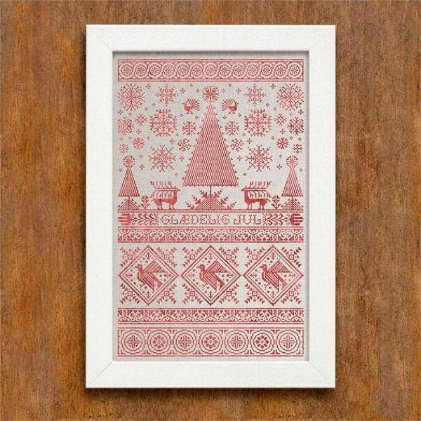 Scandinavian Christmas Sampler Cross Stitch Pattern
