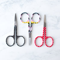 Black and White Circle Pattern Embroidery Scissors