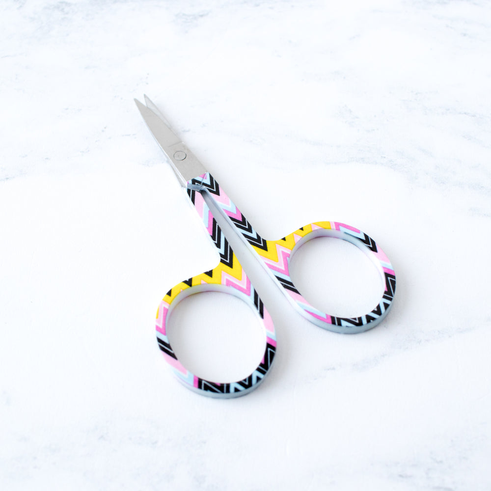 Allary Corp Multi-Color Chevron Pattern Embroidery Scissors