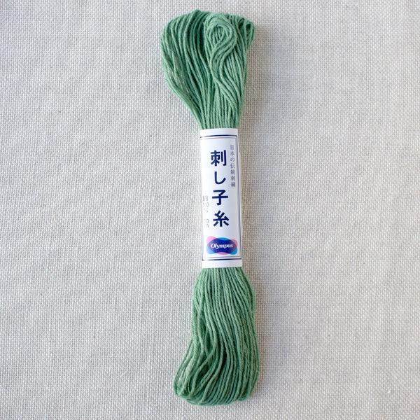 Japanese Sashiko Thread - Green (#7)