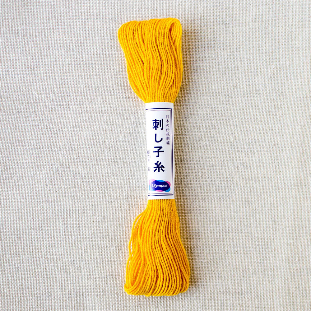 Japanese Sashiko Thread - Yellow (#16)