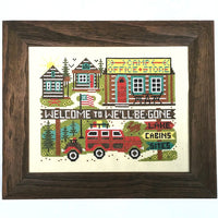 Camp We'll-Be-Gone Cross Stitch Pattern