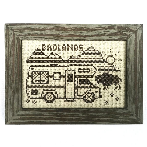 Greetings from Badlands NP - Cross Stitch Pattern