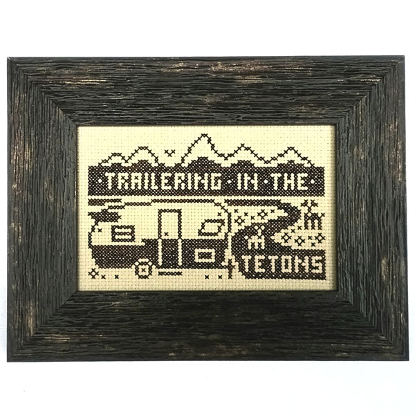 Trailering in the Tetons - Cross Stitch Pattern