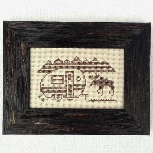Greetings from Moose Mountains - Cross Stitch Pattern