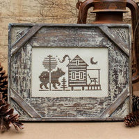 Greetings From Traveling Cabin Cross Stitch Pattern
