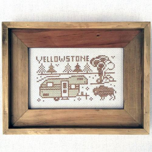 Greetings from Yellowstone National Park - Cross Stitch Pattern