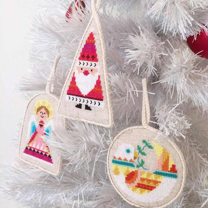 Ornament Set Cross Stitch Pattern