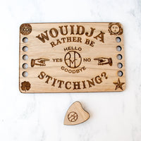 Ouija Board Thread Organizer and Needle Minder Set