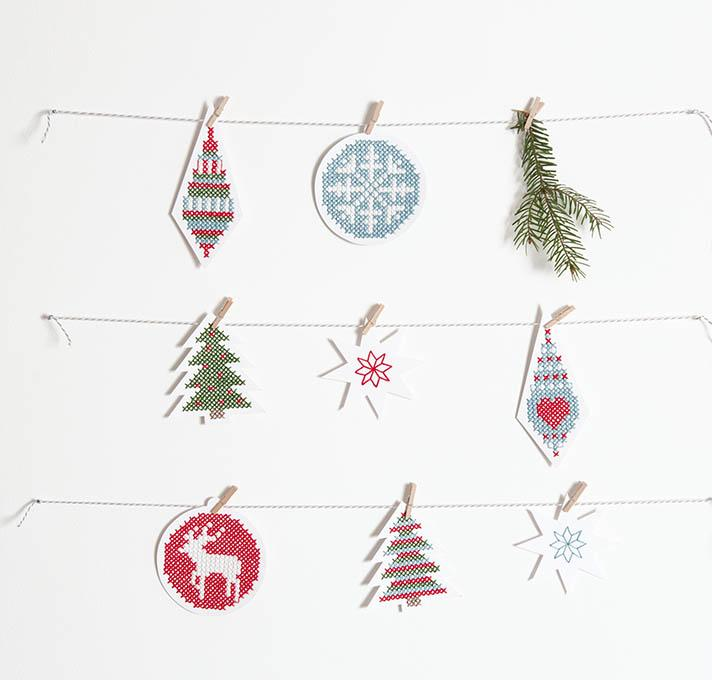 Paper Poetry Christmas Embroidery Boards Stitched Modern