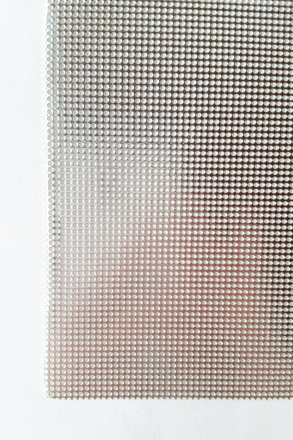 Shiny Metallic Silver Perforated Paper