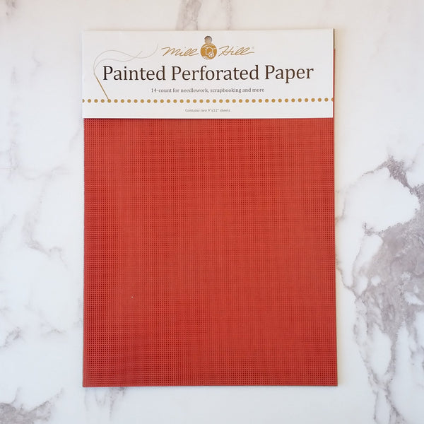 Painted Perforated Paper - Red