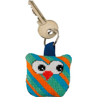Cross Stitch Key Ring Mini Kit - Owls