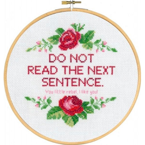 'Do Not Read' Cross Stitch Quote Kit