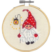 Christmas Elf with Lamp Cross Stitch Kit