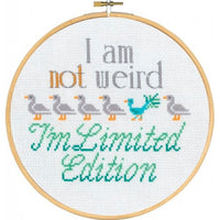 'I'm Not Weird' Cross Stitch Quote Kit