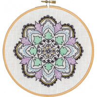 Mandala Design Hand Embroidery Wall Art Kit